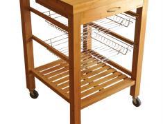 Кухненско шкафче с колелца, kuhnensko, shkaf, za kuhnq, bambukovo