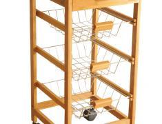 Кухненско шкафче с колелца, kuhnensko, shkafche, bambukovo