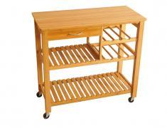 Кухненско шкафче с колелца, kuhnq, shkaf, ot bambuk