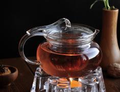 нагревател, от стъкло, със свещ, за стопляне, на чай, стопляне на напитки