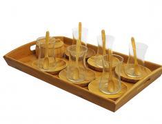 Комплект за чай, 23 части, komplekt, za chai, 4ai