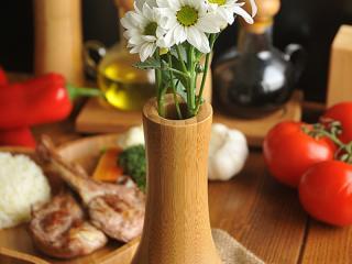 Бамбукова ваза, bambukova, vaza, ot bambuk, za cvetq