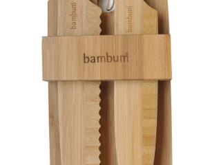 Комплект - 2 бамбукови ножа с поставка, bambukovi, noja, postavka
