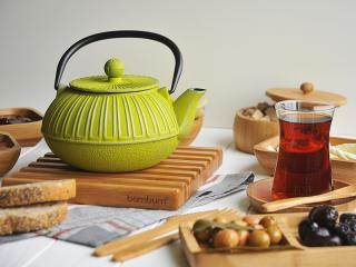 BONA - Чайник, чугун - зелен, 1,5 Л, chugunen, chainik, chugun, za 4ai