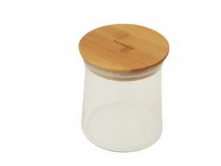 Стъклен буркан с бамбуков капак, styklen, burkan