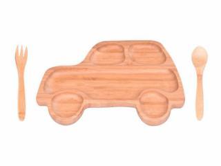 Luigi - Бамбуков комплект за деца Кола, от 3 части